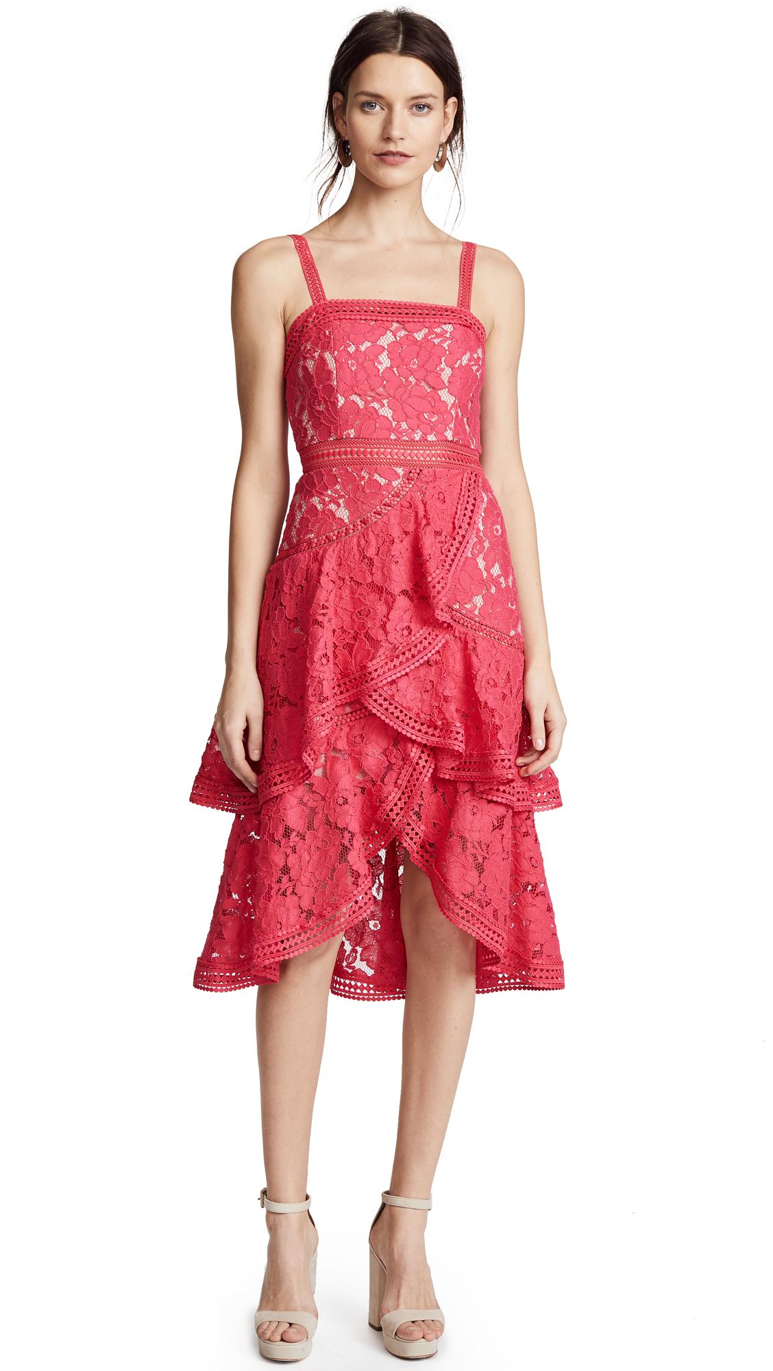 alice + olivia Angelita Lace Dress