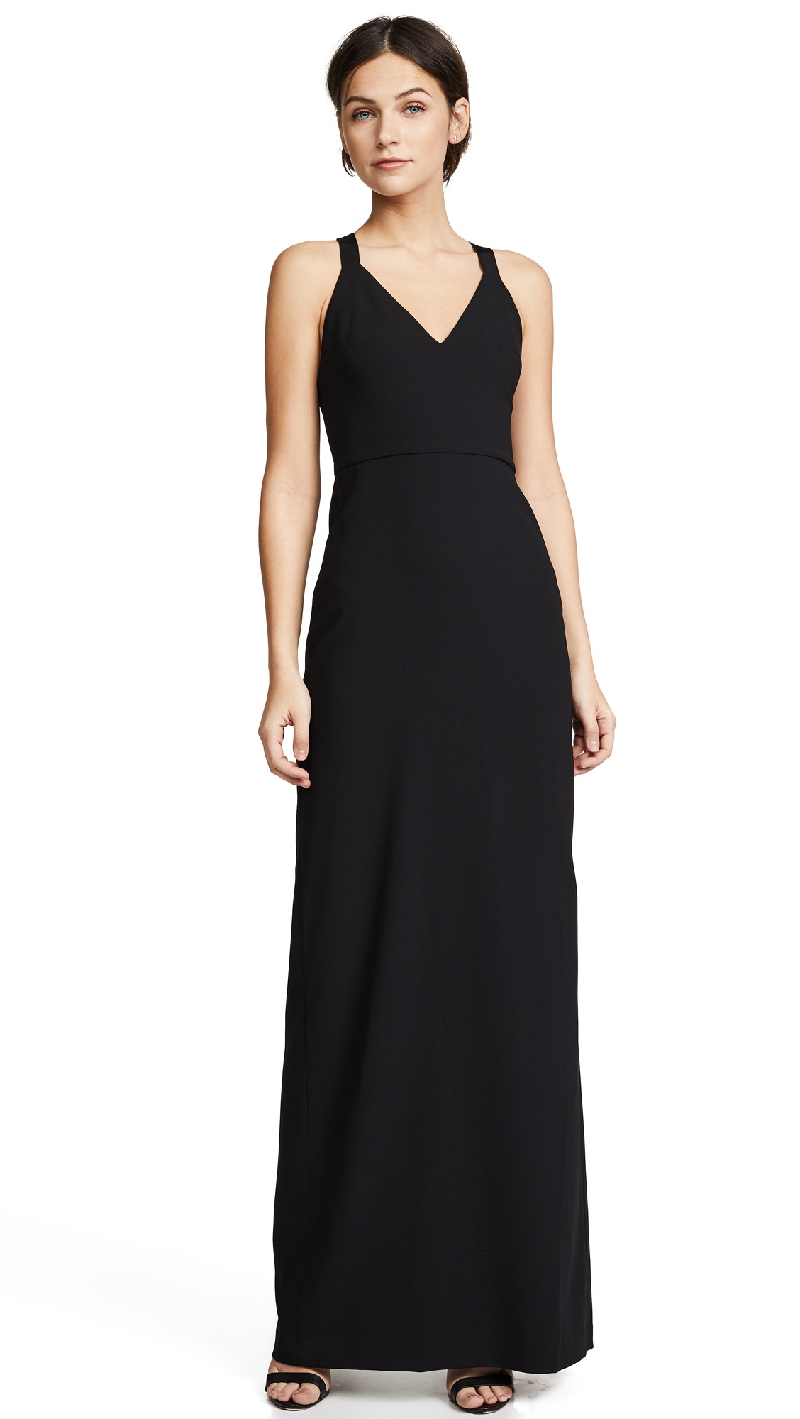 alice + olivia Brianna Maxi Dress In Black