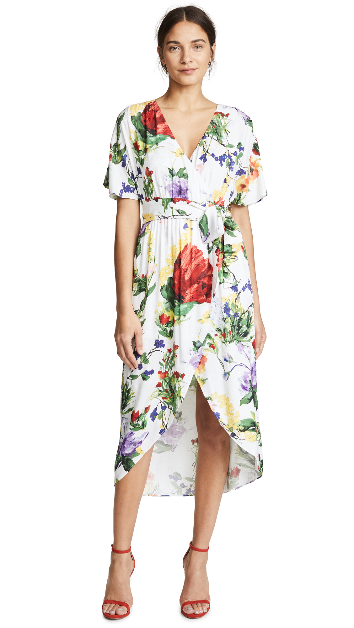 alice + olivia Clarine Wrap Dress In Wildflower