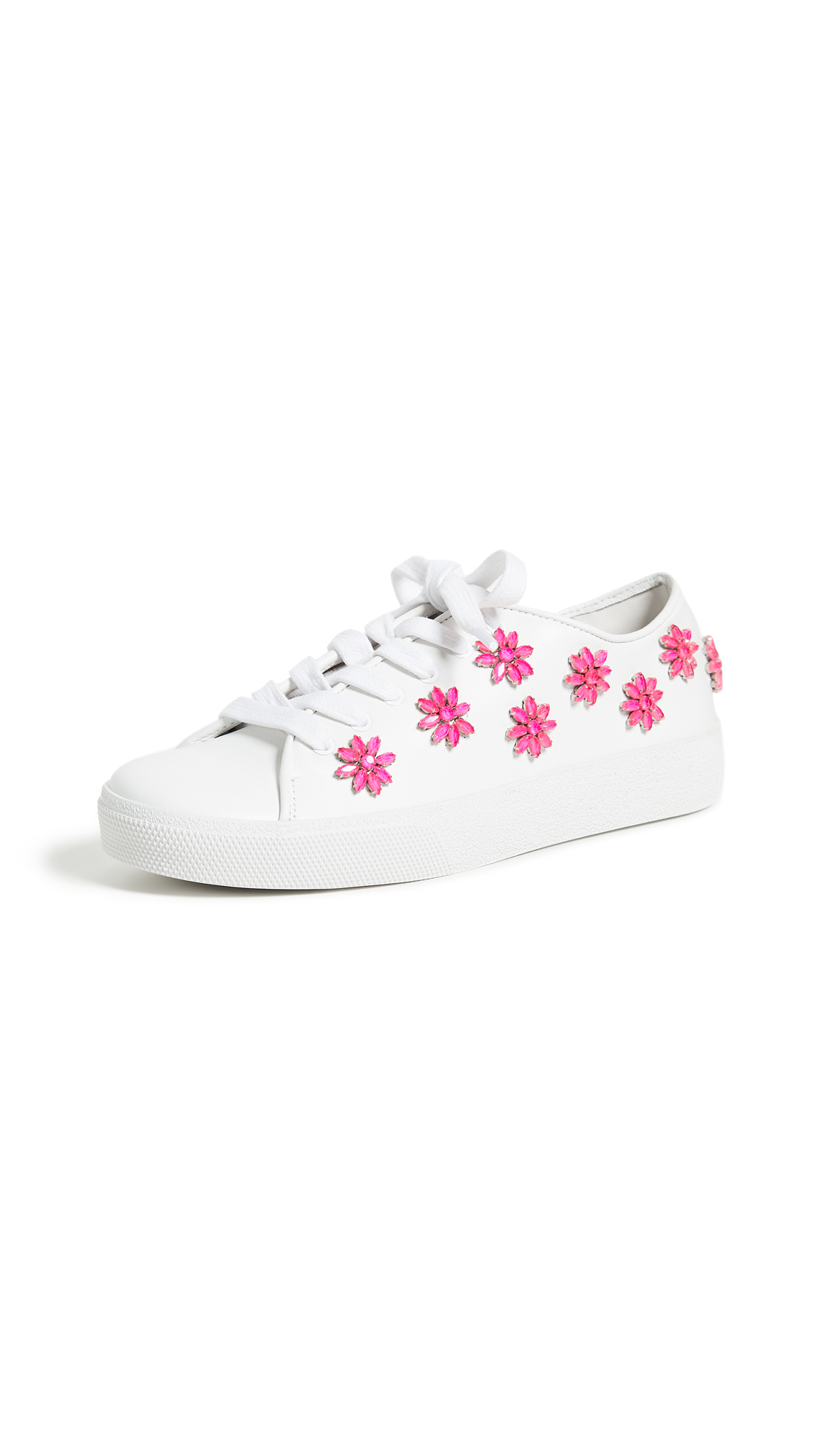 alice + olivia Cleo Floral Sneakers - Pure White