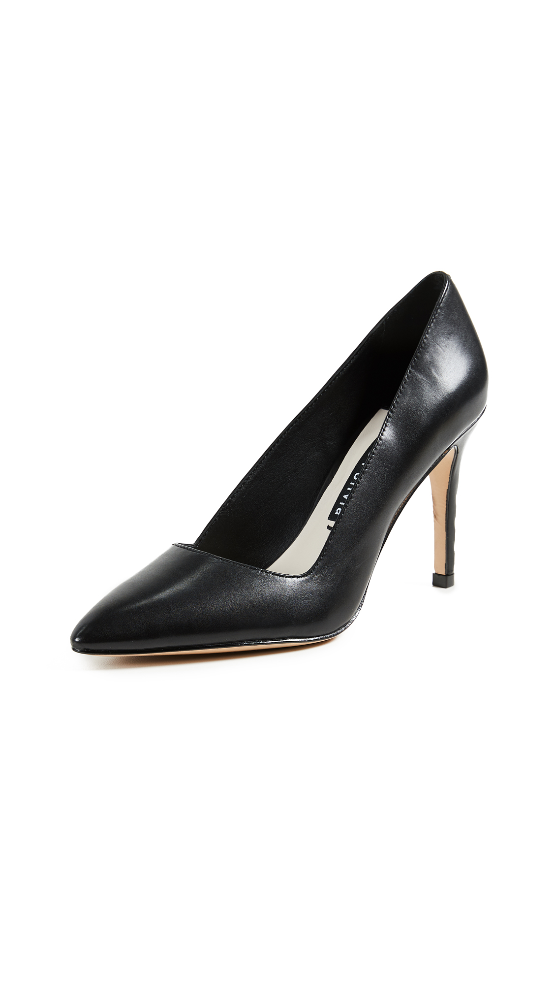 alice + olivia Dina Point Toe Pumps - Black