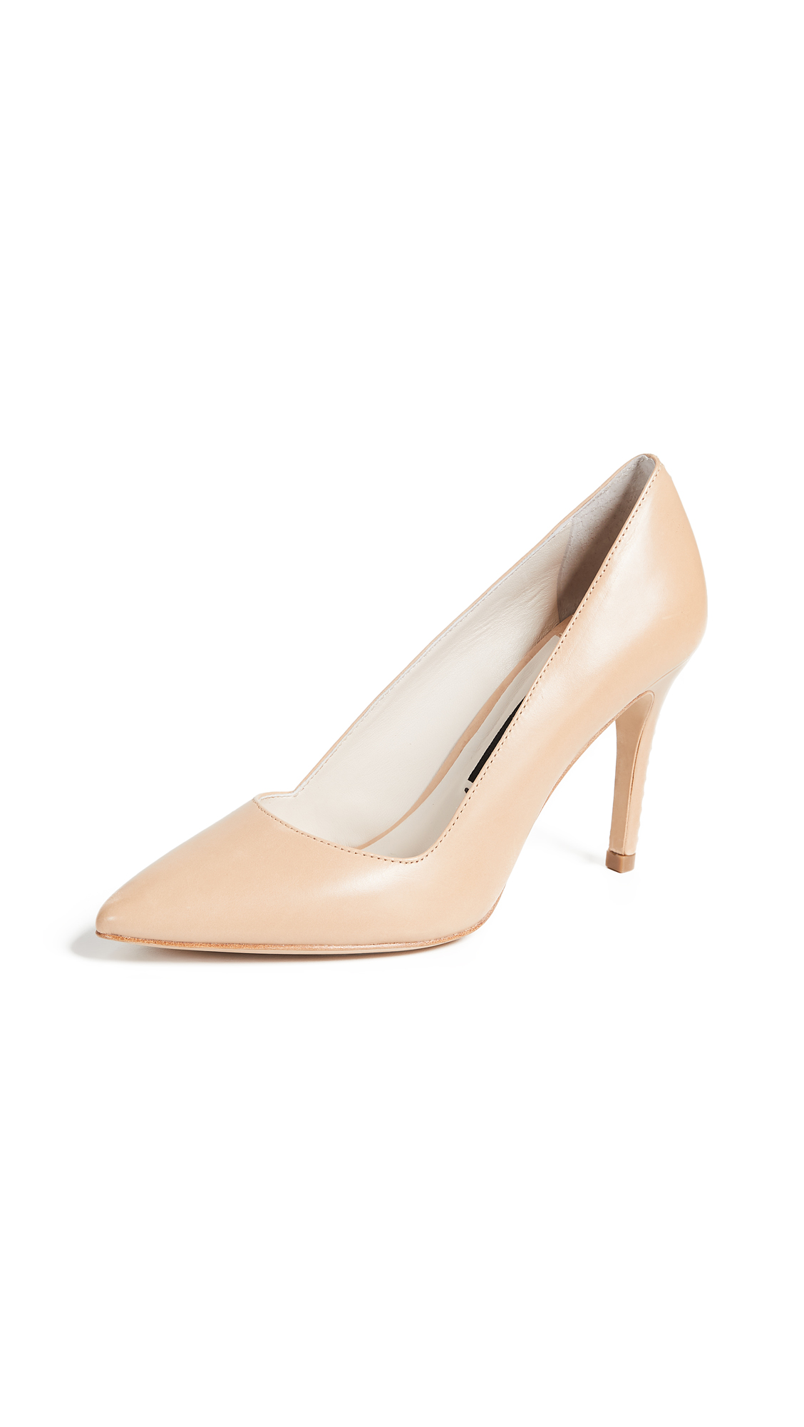 alice + olivia Dina Point Toe Pumps - Natural