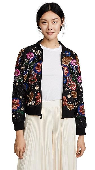 alice + olivia Felissa Jacket In Black/Multi