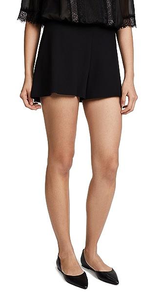 alice + olivia Leslie Shorts In Black