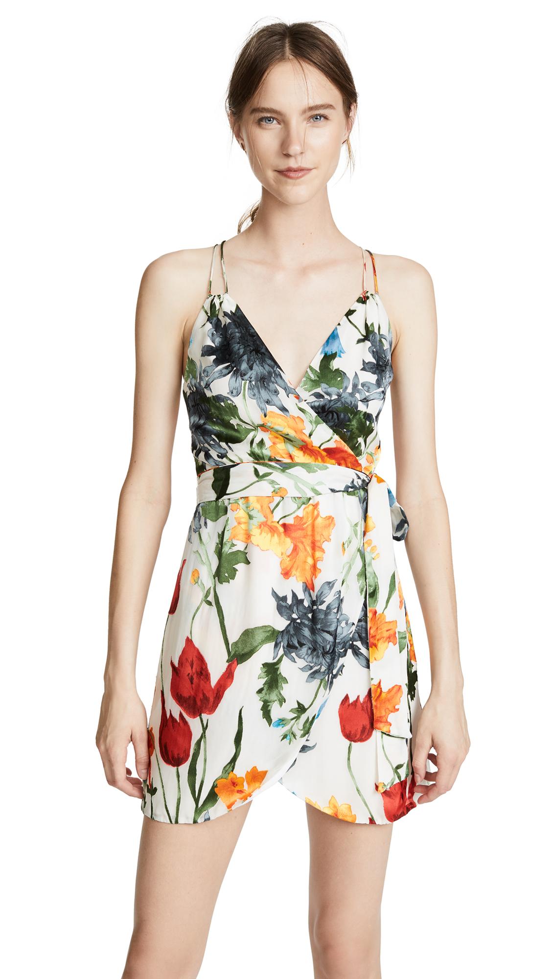 alice + olivia Susana Dress In Greenwich Garden Soft Cream