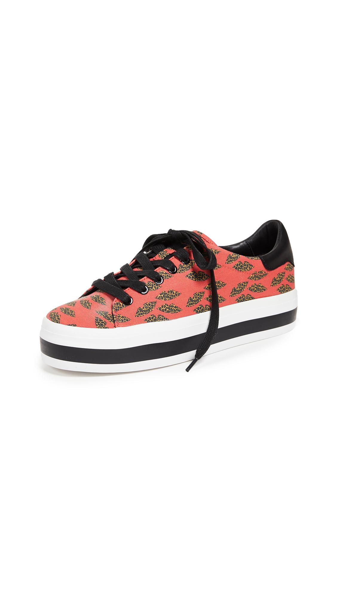 alice + olivia x Donald Robertson Ezra Cheetah Sneakers - Cheetah