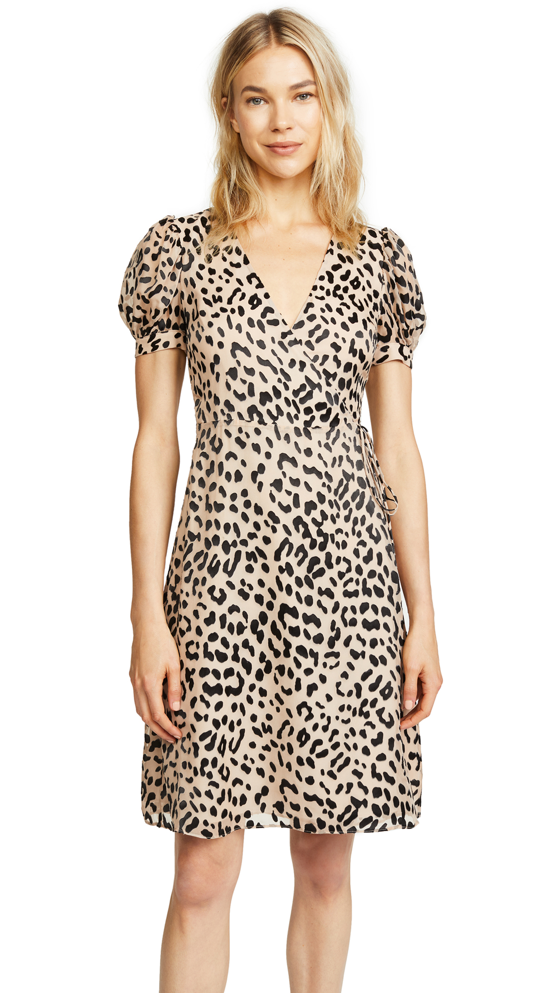 alice + olivia Rosette Dress In Leopard/Sand