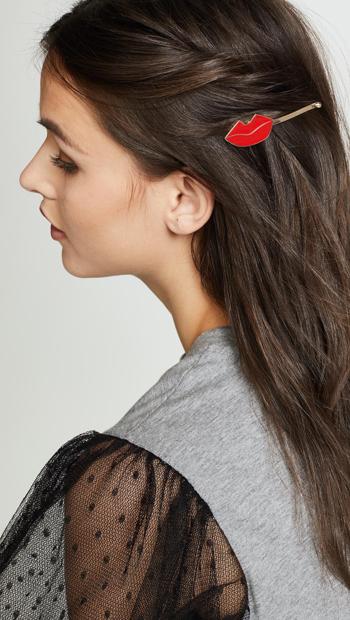 Alice & Olivia Lips Hairpin wQXo0pl0zR