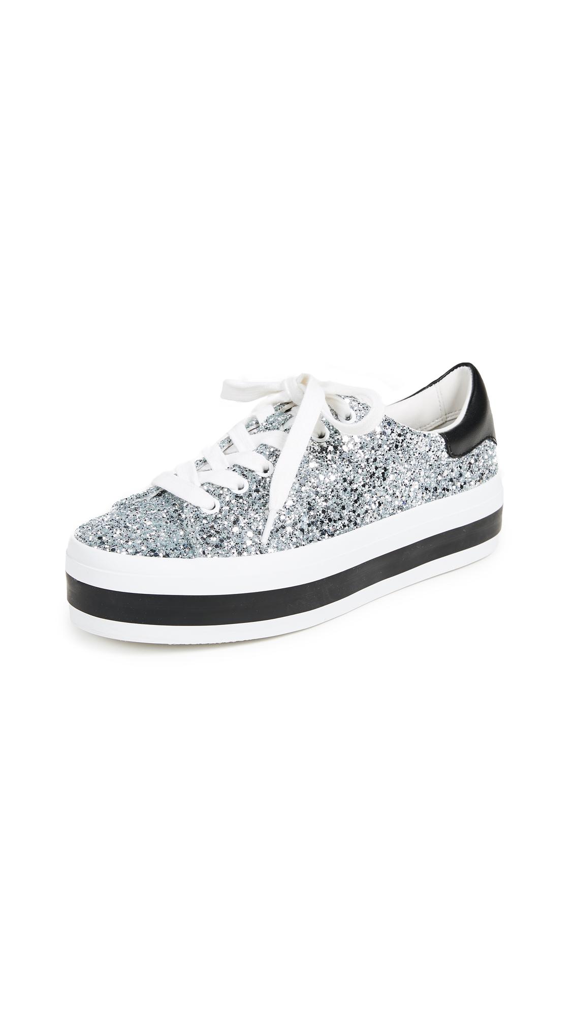 alice + olivia Ezra Platform Sneakers - Silver