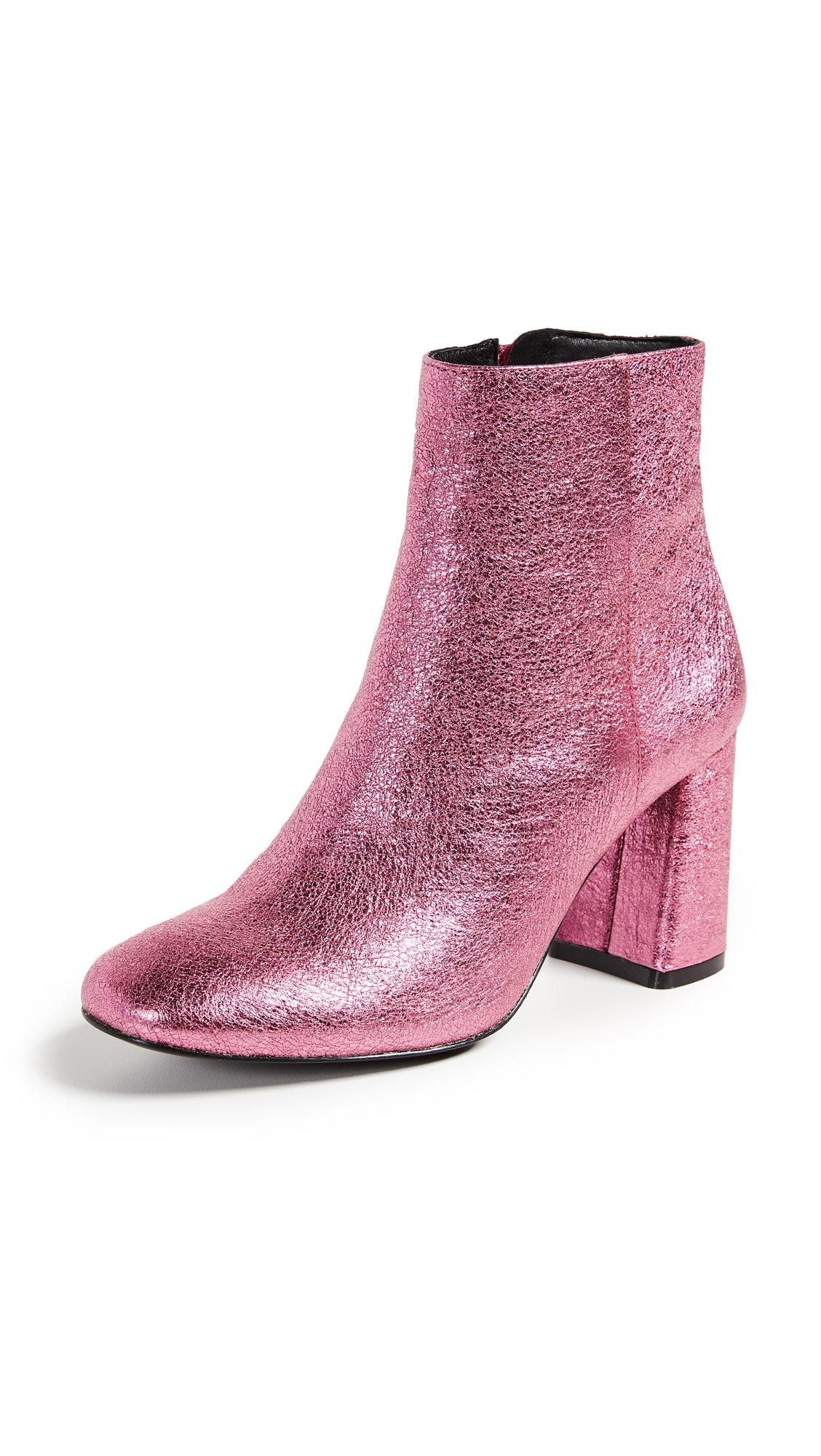alice + olivia Dobrey Block Heel Booties - Bubblegum