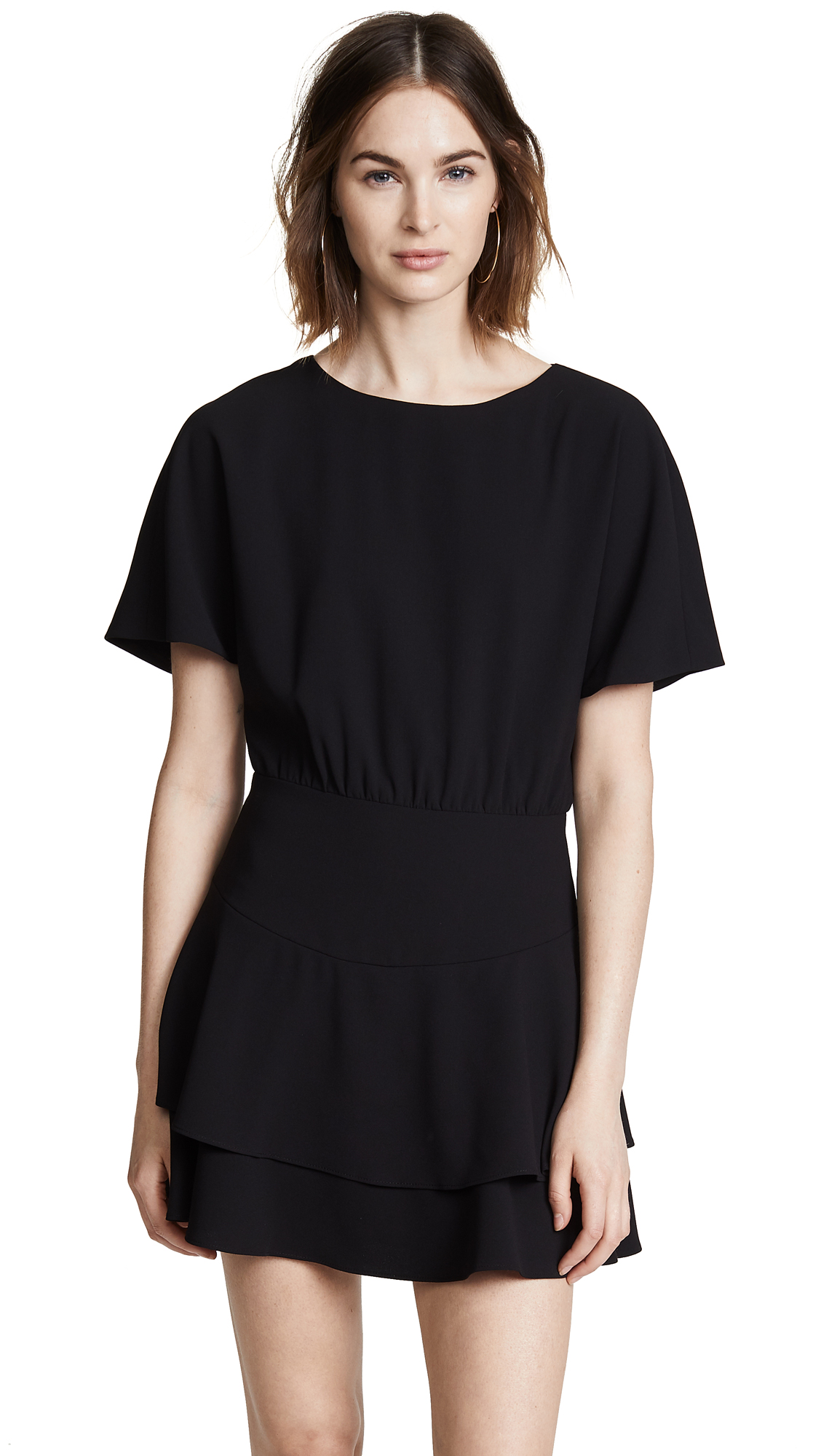 Alice+Olivia Palmira Ruffled Dress - Black