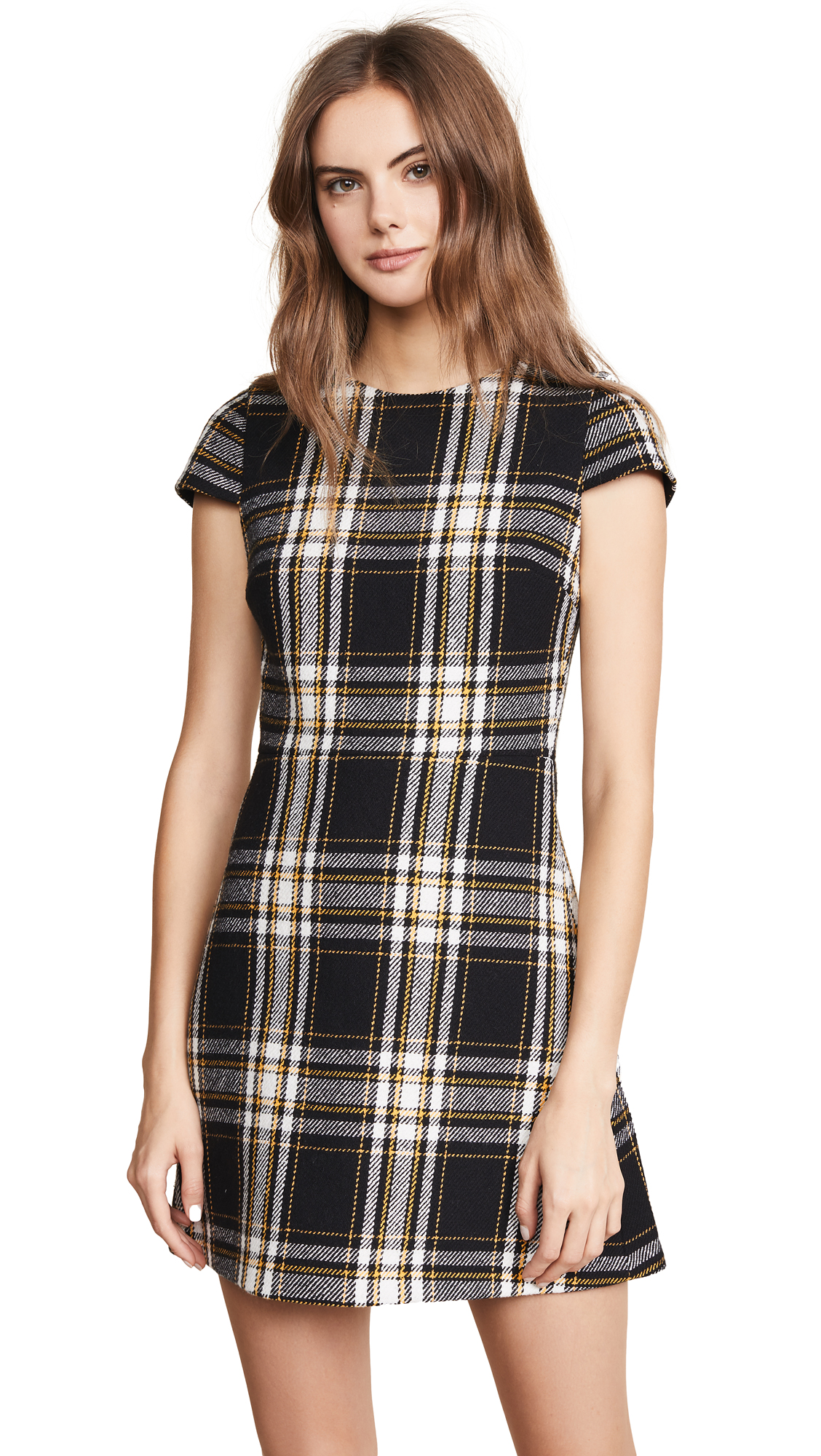 alice + olivia Malin Crew Neck Dress