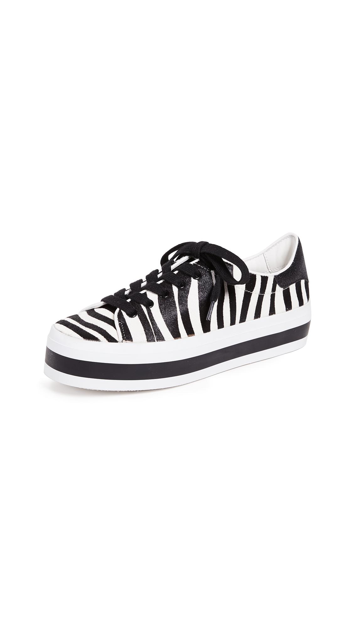 alice + olivia Ezra Zebra Sneakers - Black/White