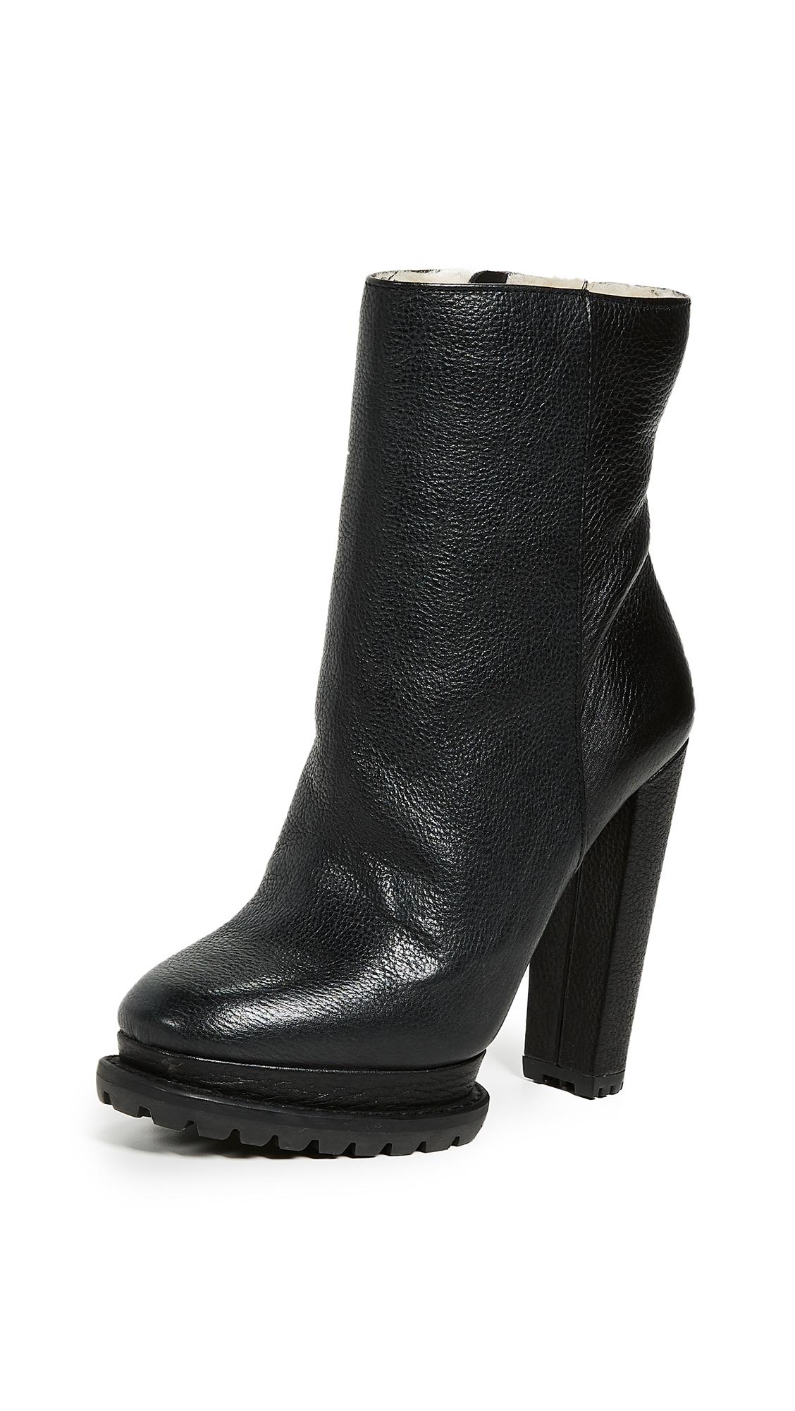 alice + olivia Holden Platform Boots - Black