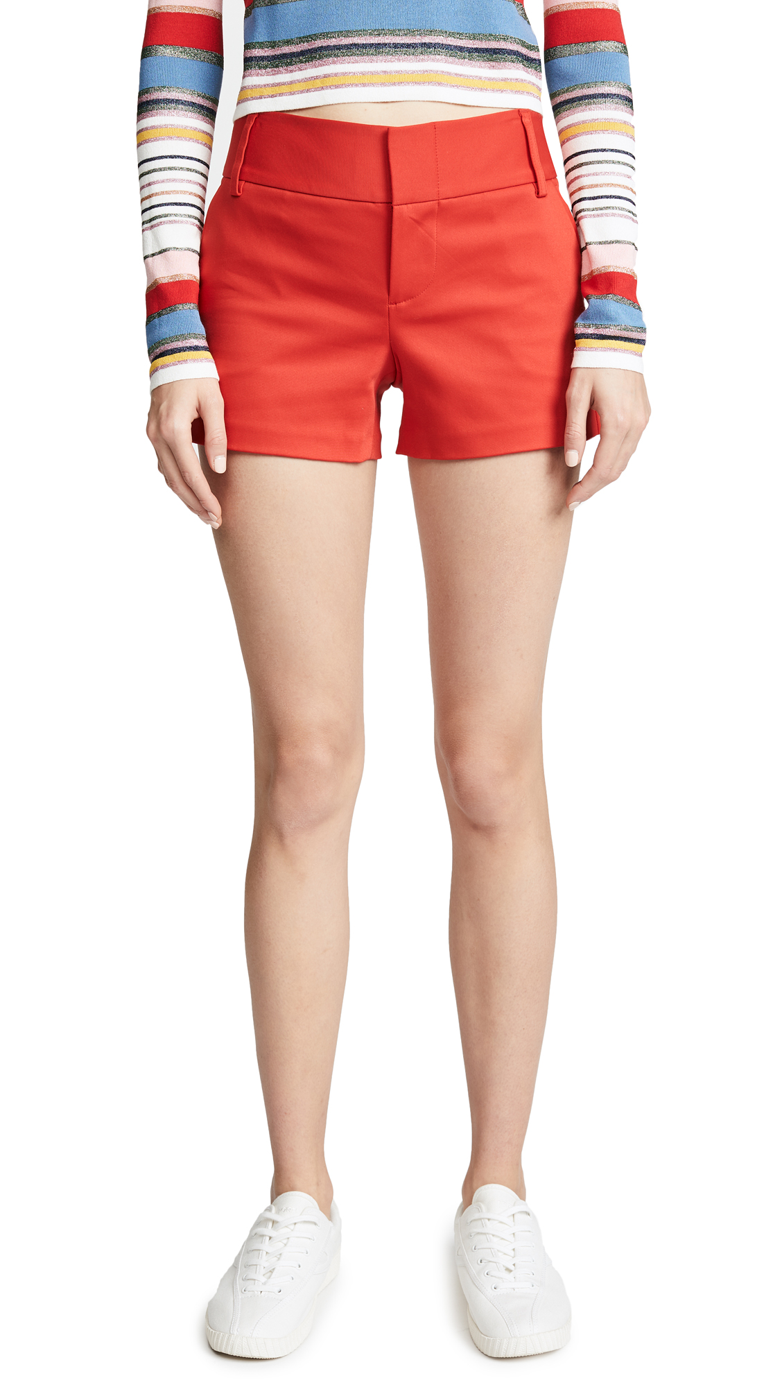 alice + olivia Cady Shorts In Perfect Poppy