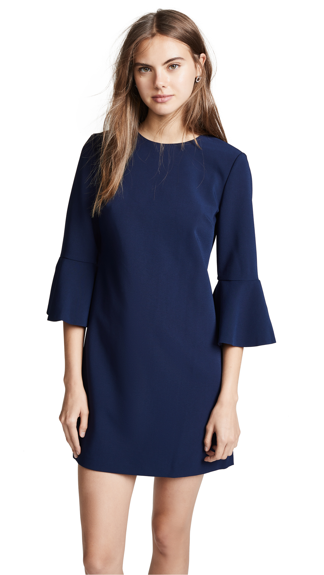 ALICE AND OLIVIA THYME SHORT TRUMPET SLEEVE DRESS
