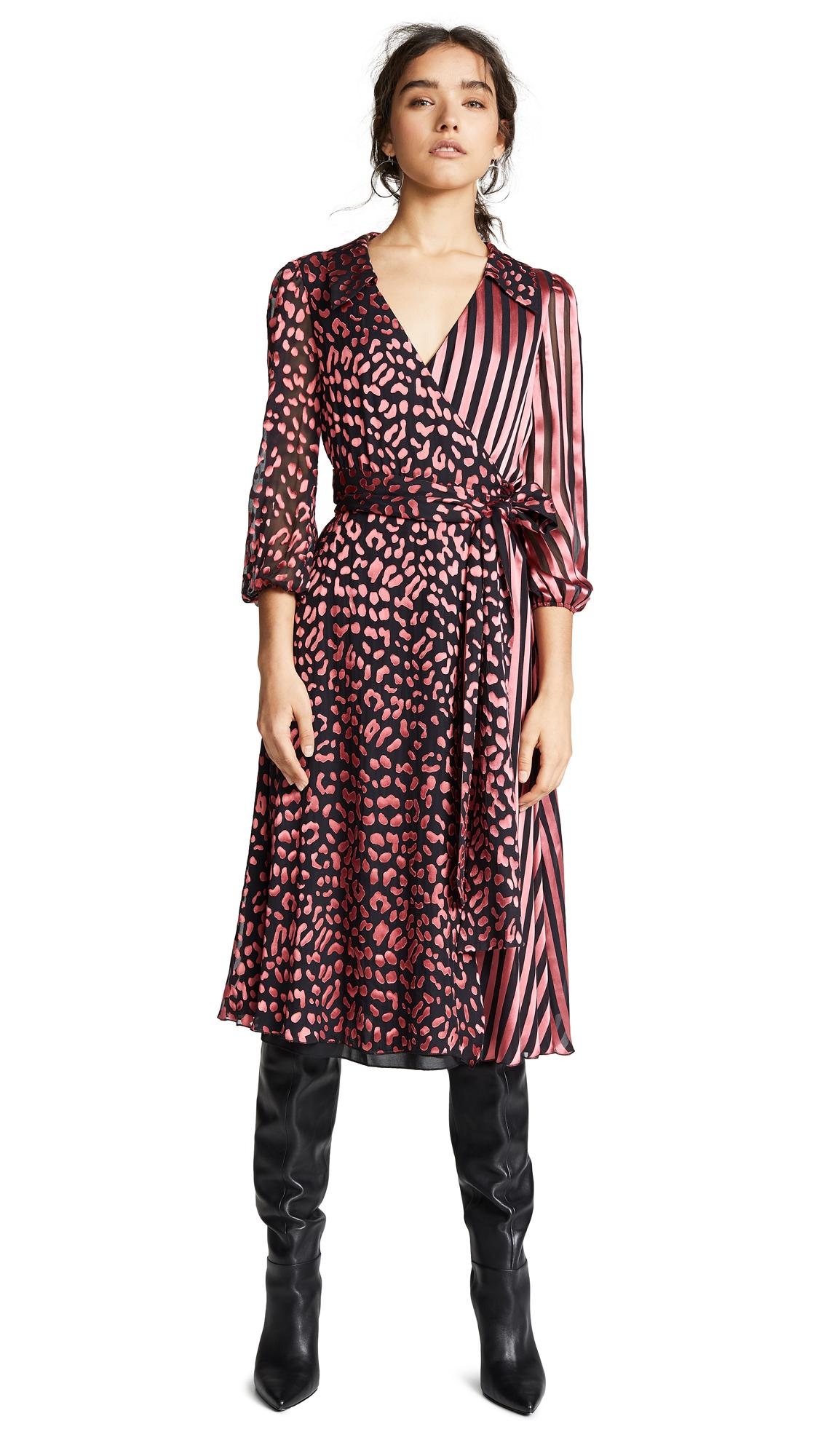 alice + olivia Abigail Wrap Dress
