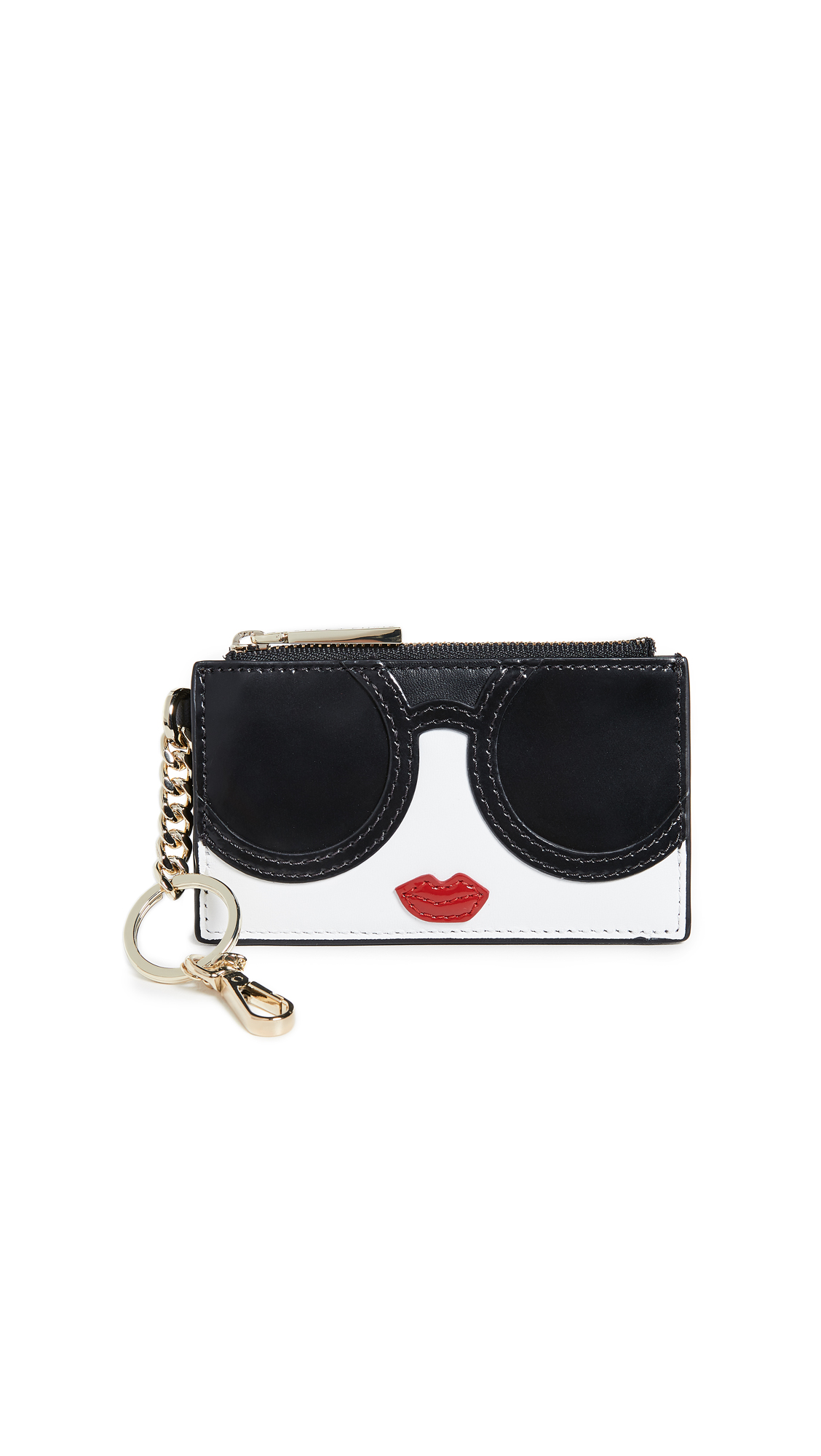 ALICE AND OLIVIA REGINA STACE FACE ZIP TOP CARD CASE