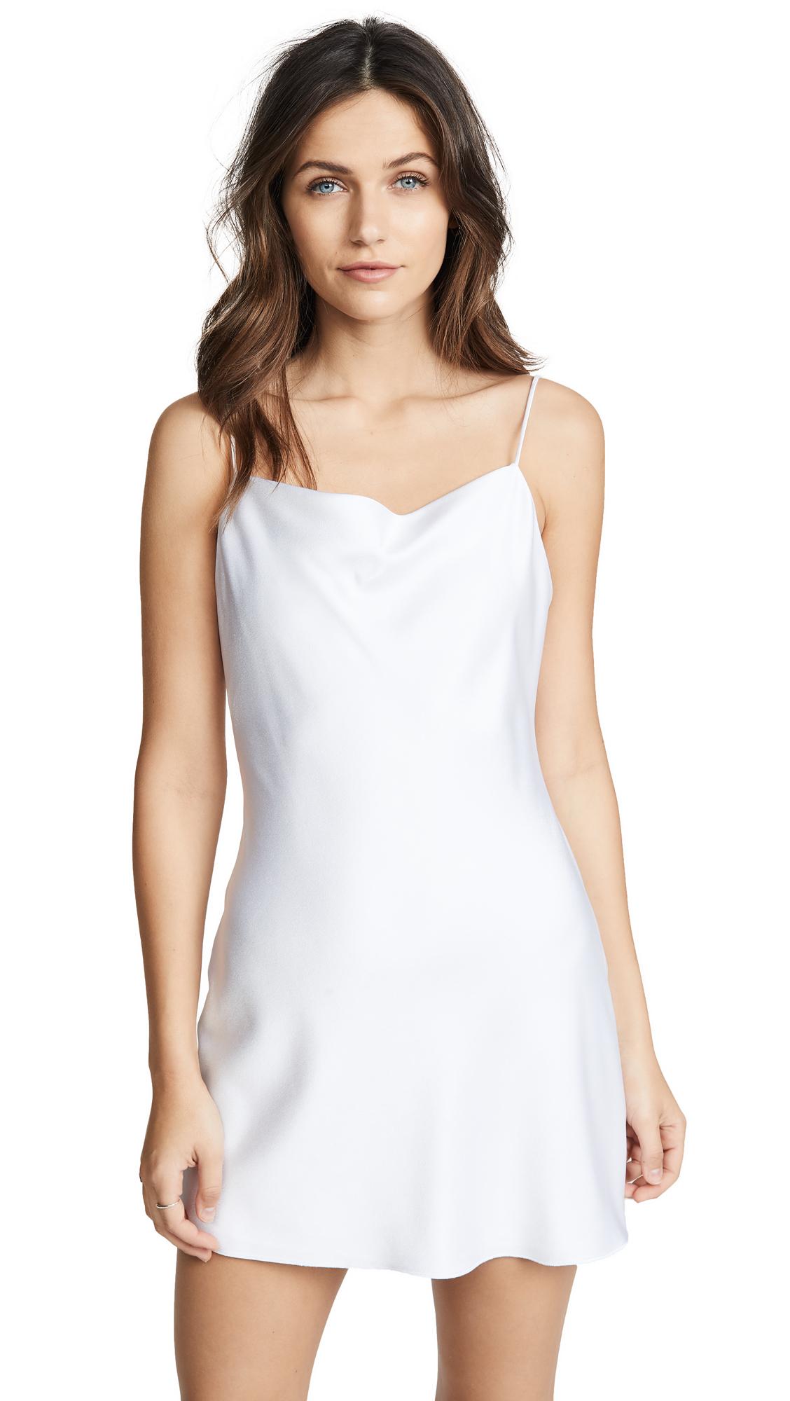alice + olivia Harmony Mini Dress In White