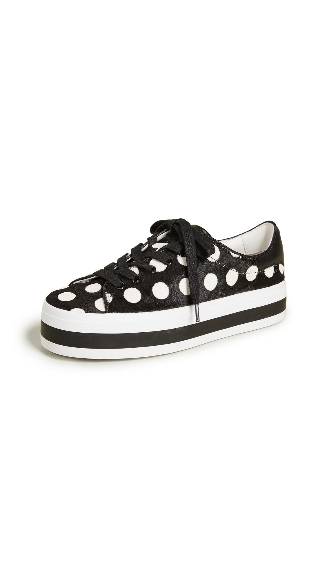 alice + olivia Ezra Sneakers - Black/White