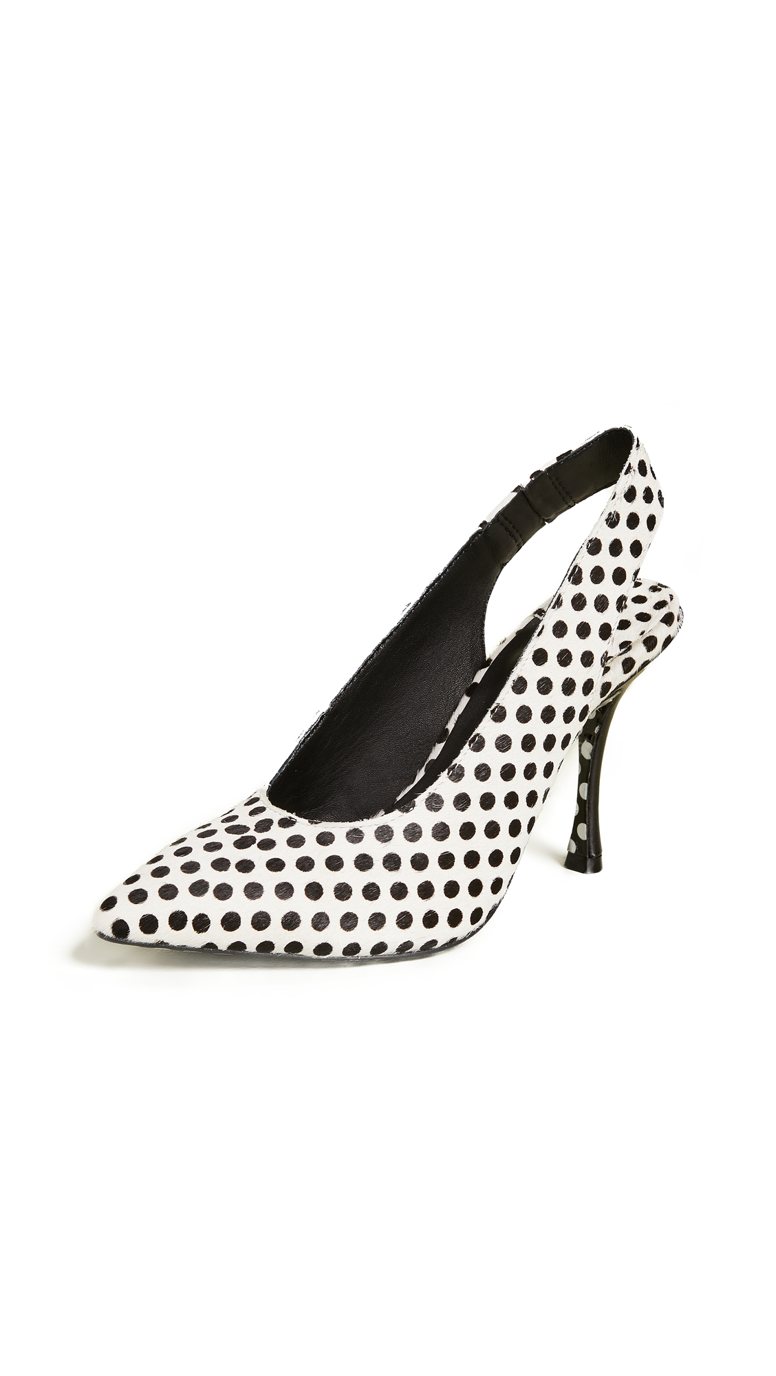 alice + olivia Innet Slingback Pumps - Black/White