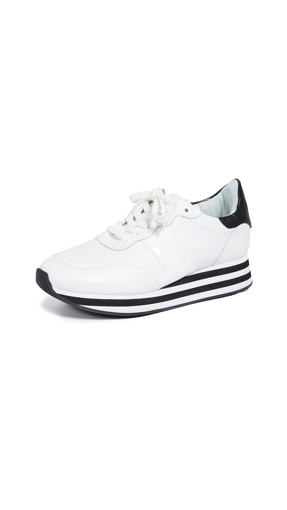 alice + olivia Magman Sneakers - White/ Black