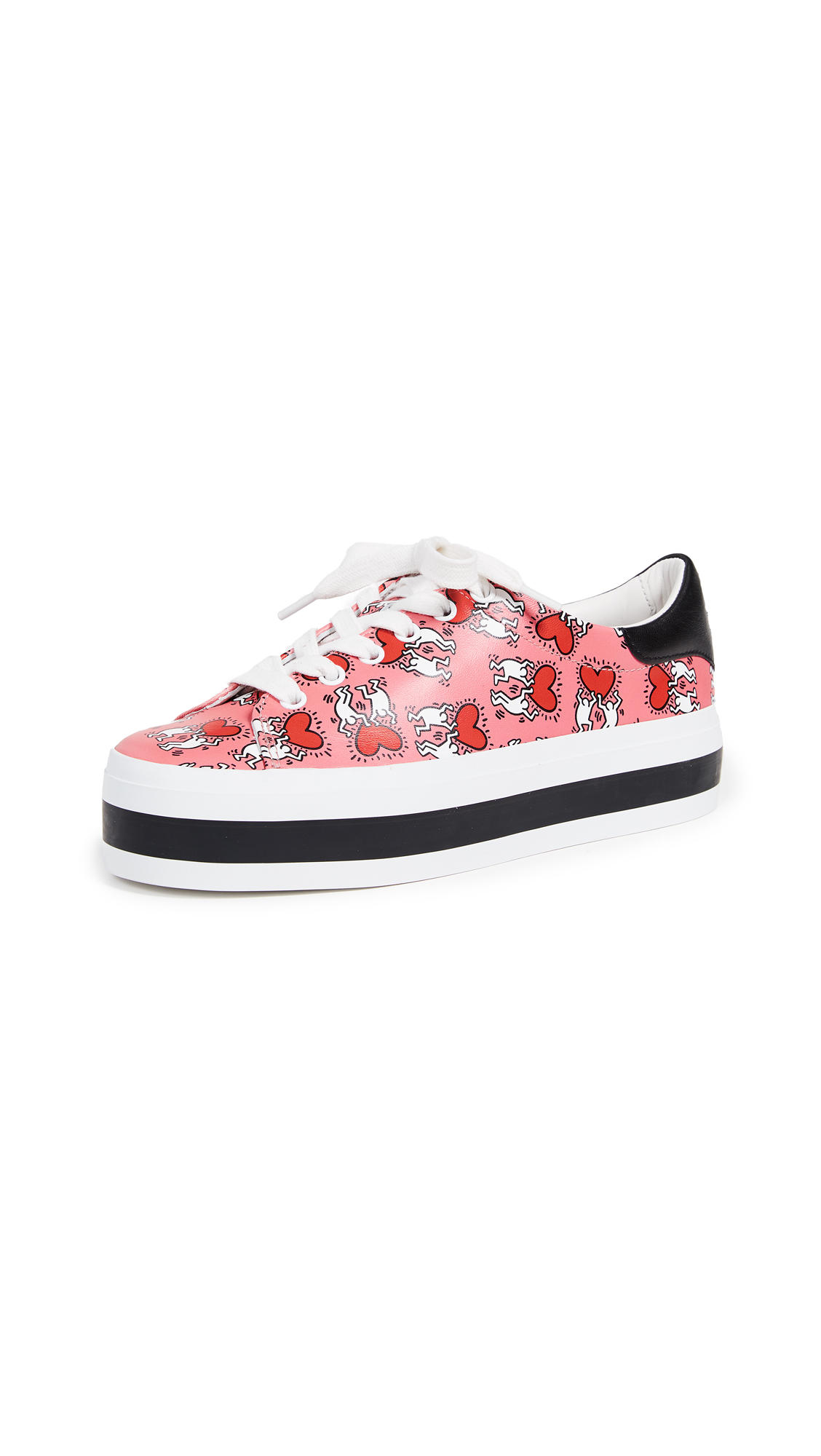 alice + olivia Keith Haring Ezra Sneakers - Walking Heart