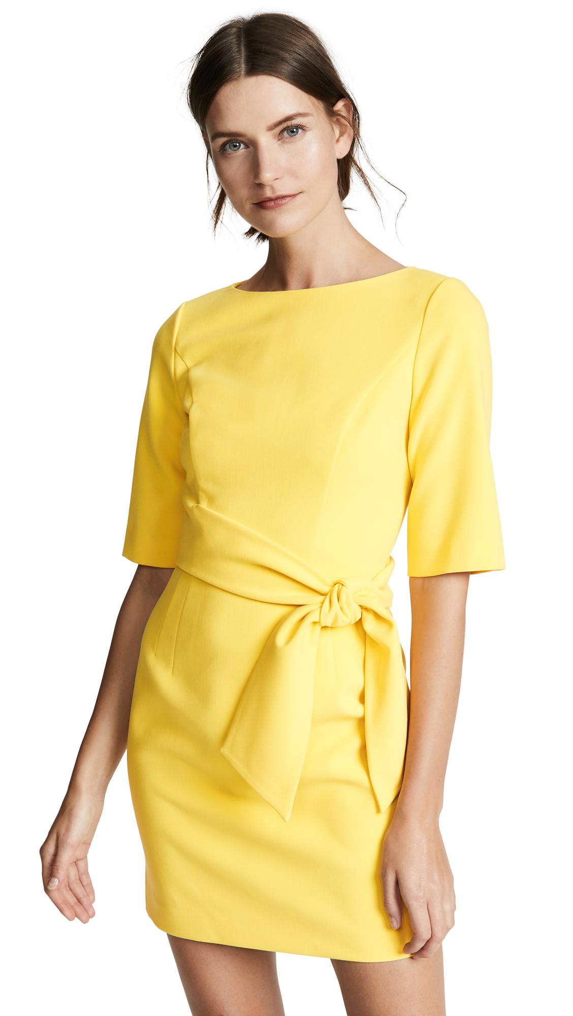 alice + olivia Virgil Boat Neck Dress - Canary