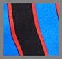 трехцветный в тонкую полоску черный/мульти