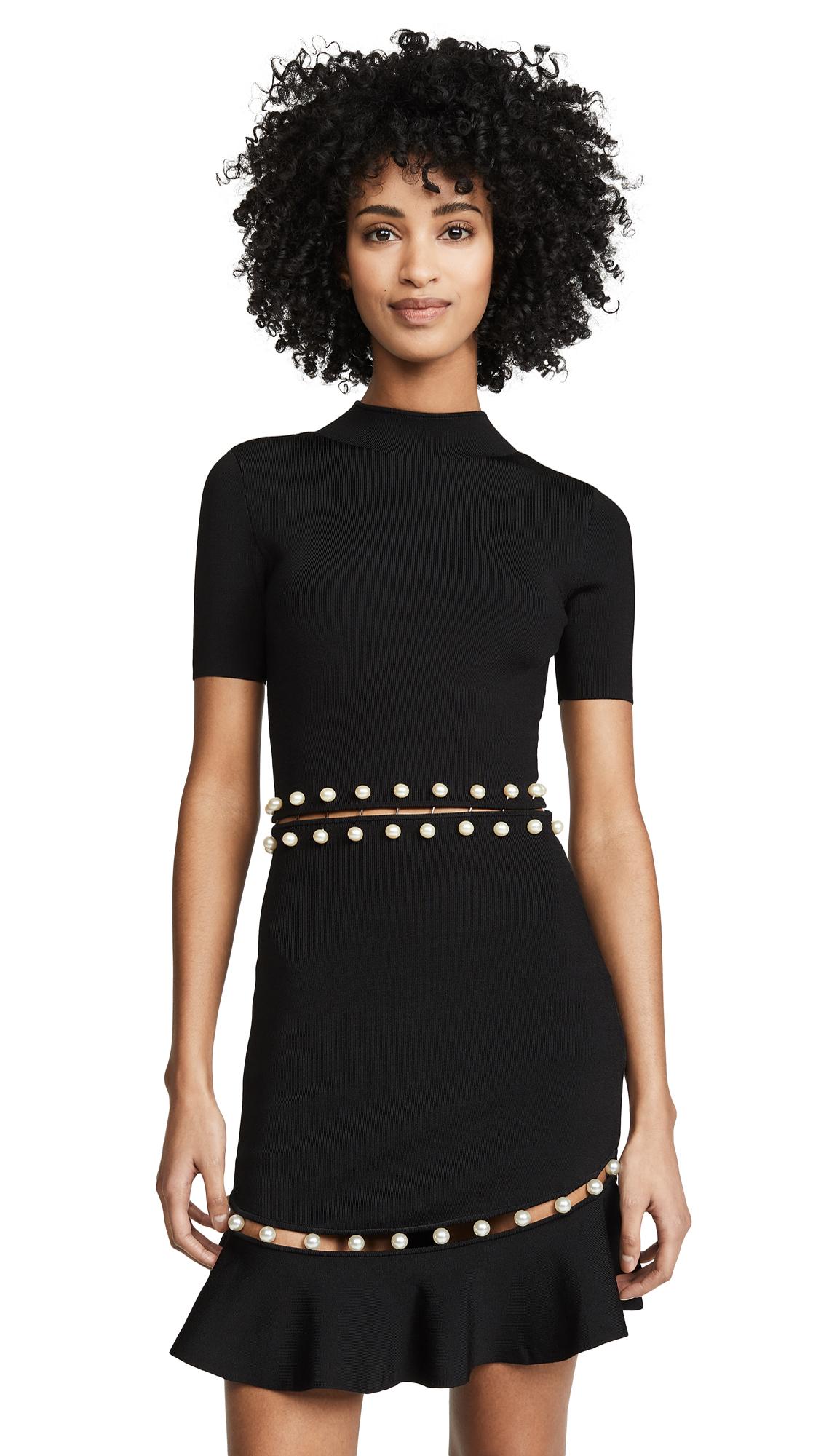 alice + olivia Evelyn Fit & Flare Dress - Black