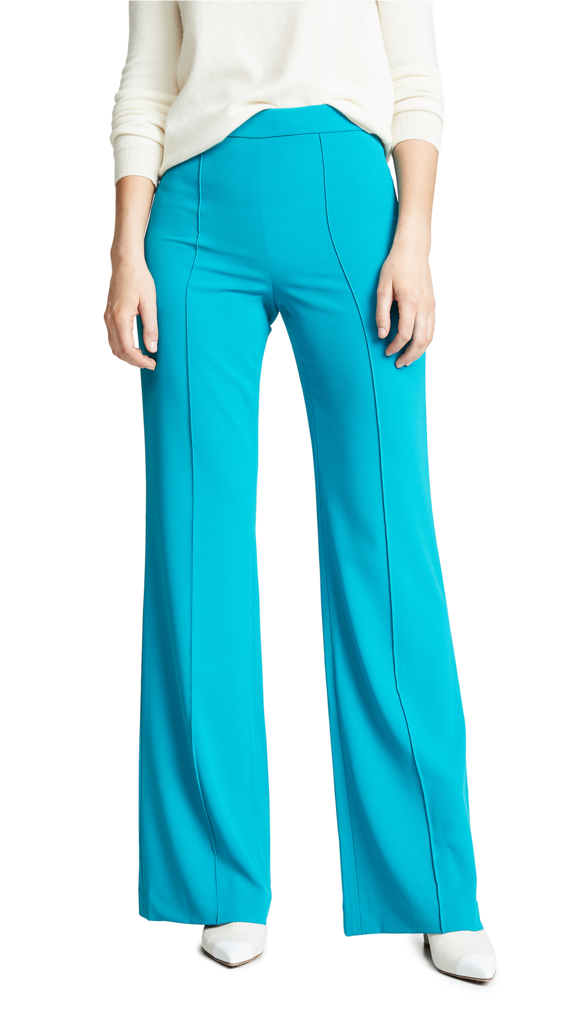 alice + olivia Jalisa Fitted Pants - Teal