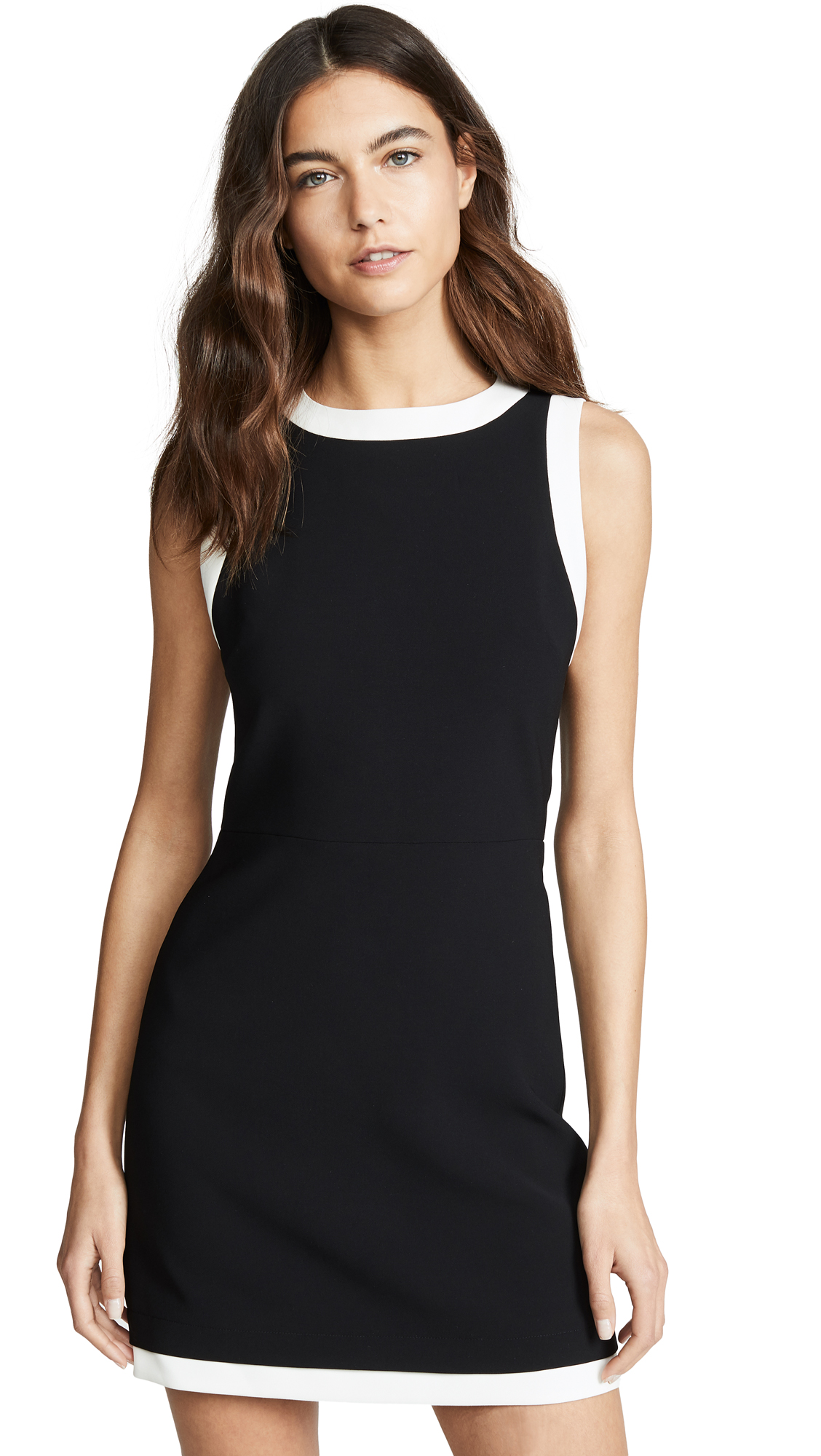 Buy alice + olivia online - photo of alice + olivia Truly Banded Neck Fitted Dress