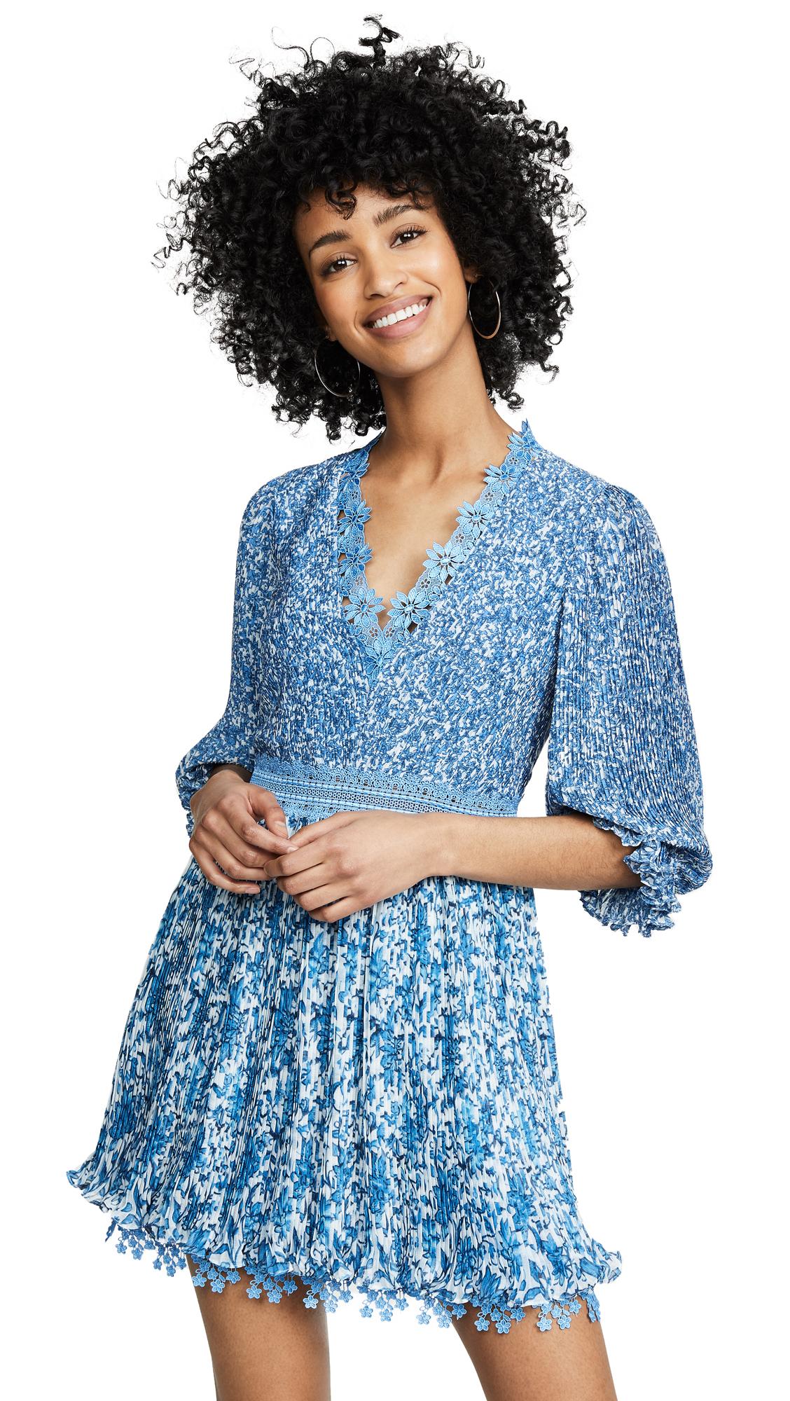 289526ce0e805 alice + olivia Jonna Pleated Deep V Mini Dress | SHOPBOP