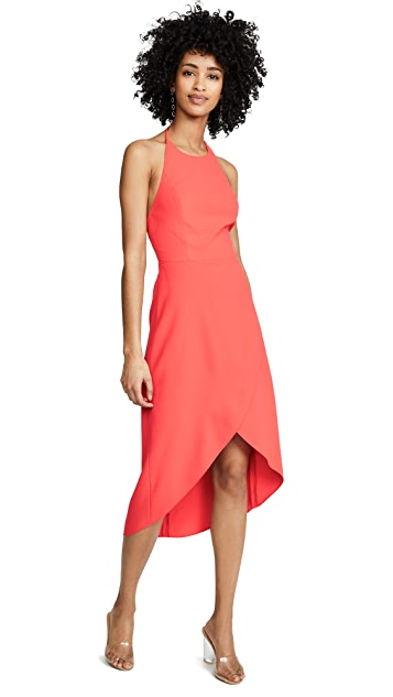 alice + olivia Kristy High Low Halter Dress