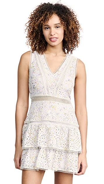Photo of  alice + olivia Tonie Embroidered Eyelet Dress - shop alice + olivia dresses online sales
