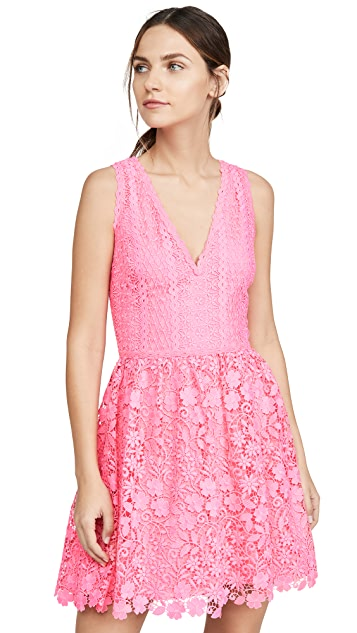 Photo of  alice + olivia Iris Gathered Dress - shop alice + olivia dresses online sales
