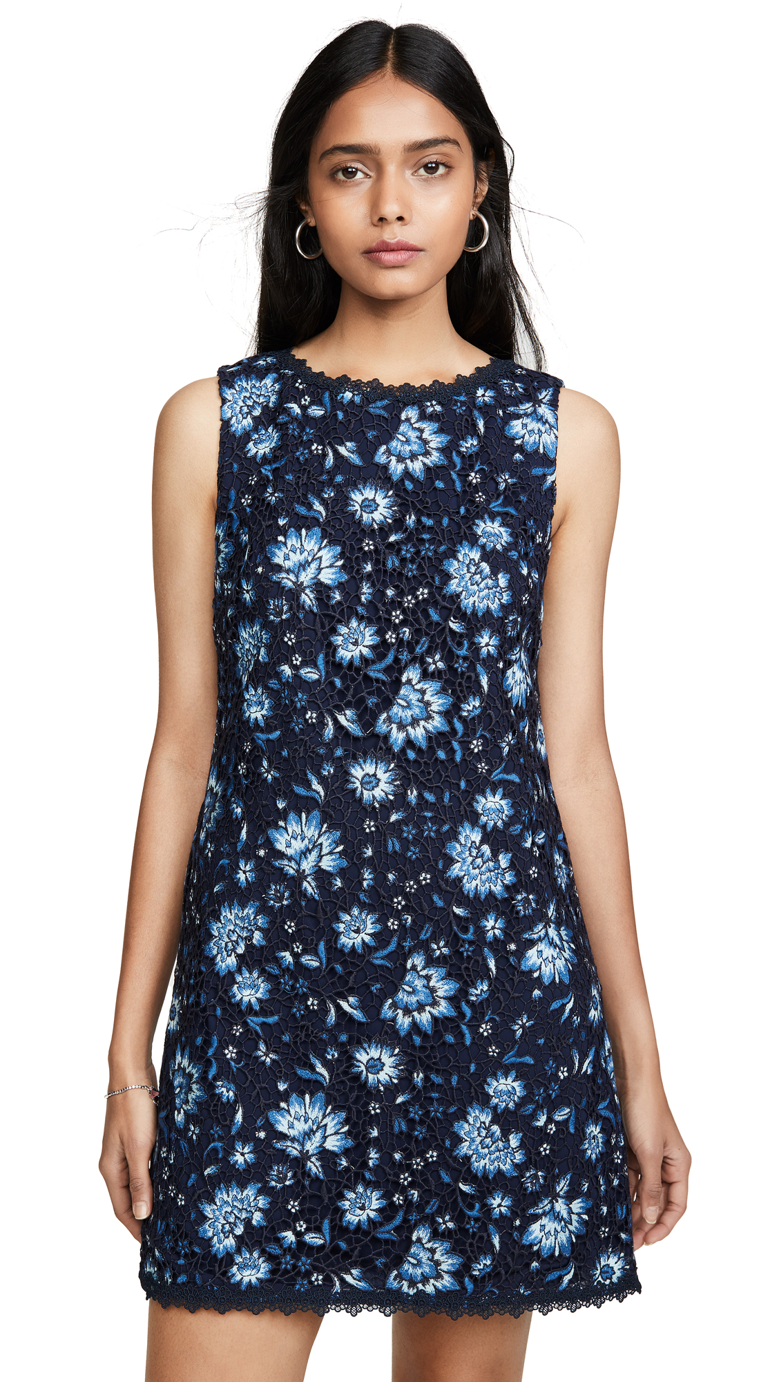 alice + olivia Clyde Shift Dress - Cornflower/Multi
