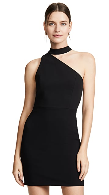 alice + olivia Skyla One Shoulder Fitted Dress