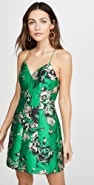 alice + olivia Tayla 挺括灯笼袖迷你连衣裙