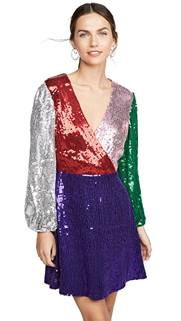 alice + olivia Blaze Sequin Dress