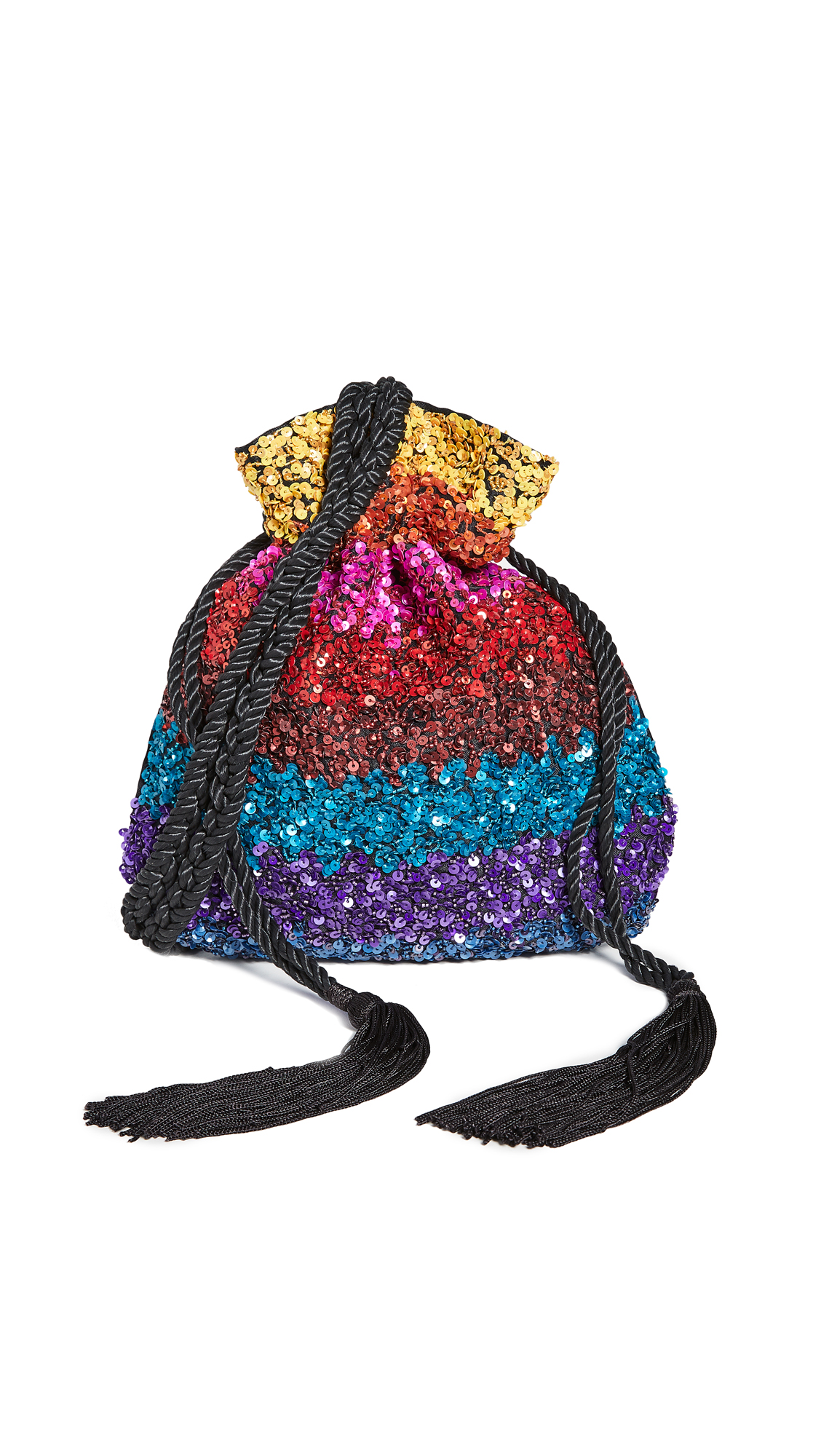 alice + olivia Rope Embellished Pouch - Multi
