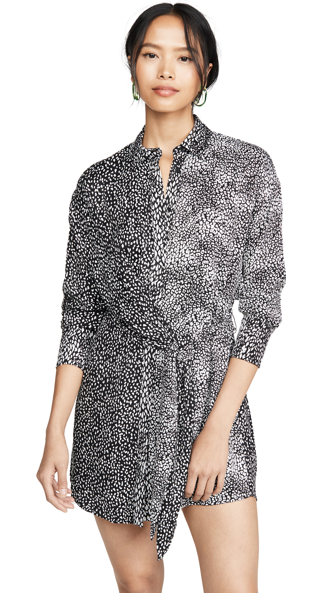 Buy alice + olivia online - photo of alice + olivia Jodi Collared Shirtdress with Tie
