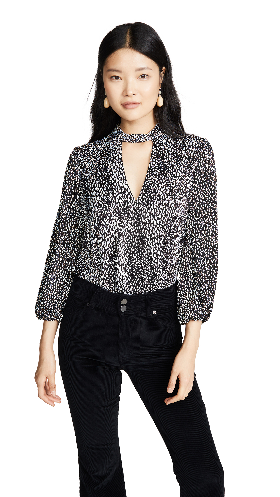 alice + olivia Willa Blouson Cutout Top – 50% Off Sale