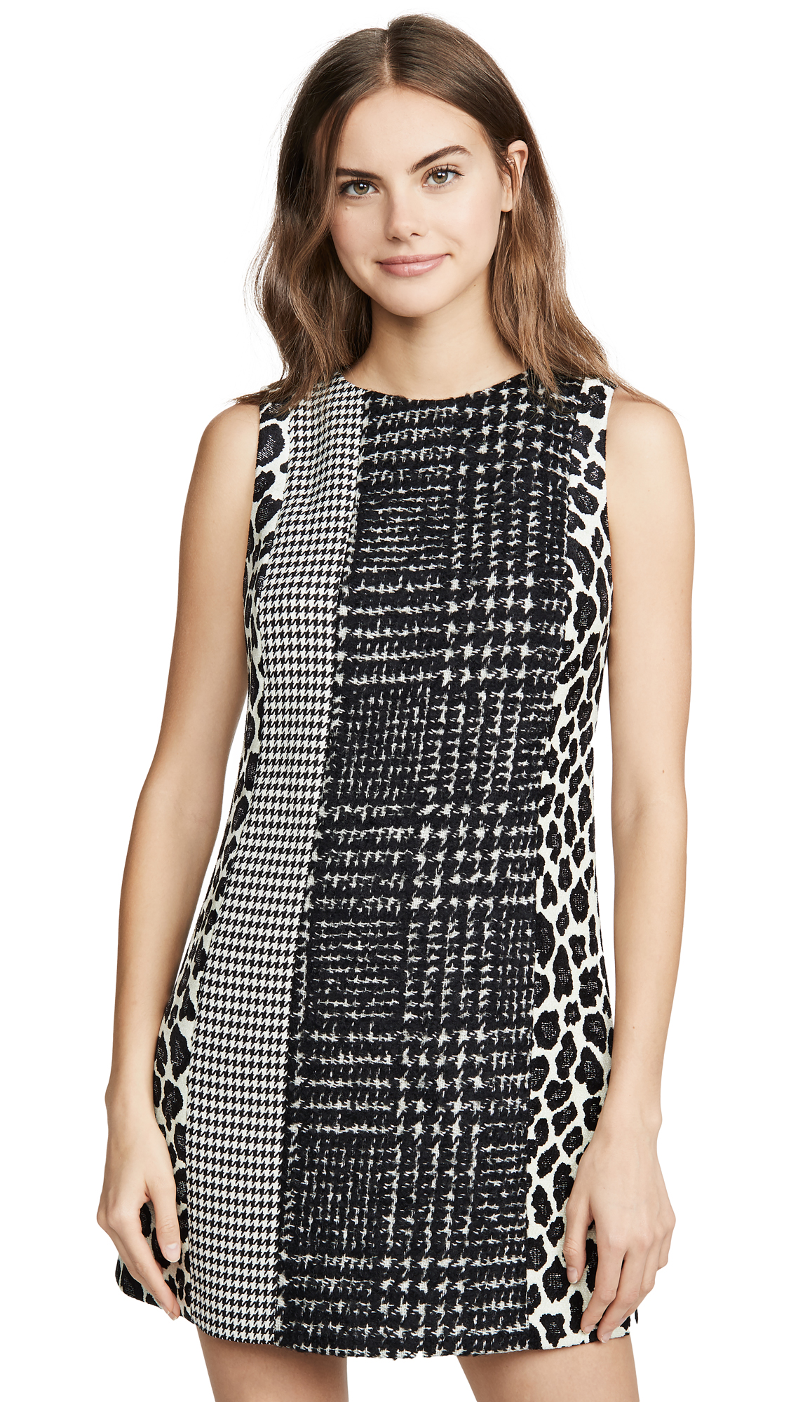 Buy alice + olivia online - photo of alice + olivia Clyde Patchwork Shift Dress