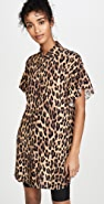 alice + olivia Jude Ruffle Button Down Tunic Dress