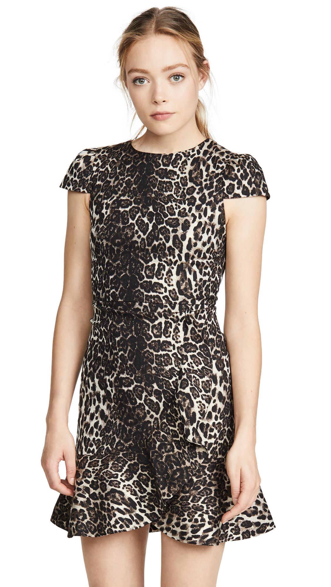 Buy alice + olivia online - photo of alice + olivia Kirby Ruffle Short Sleeve Dress
