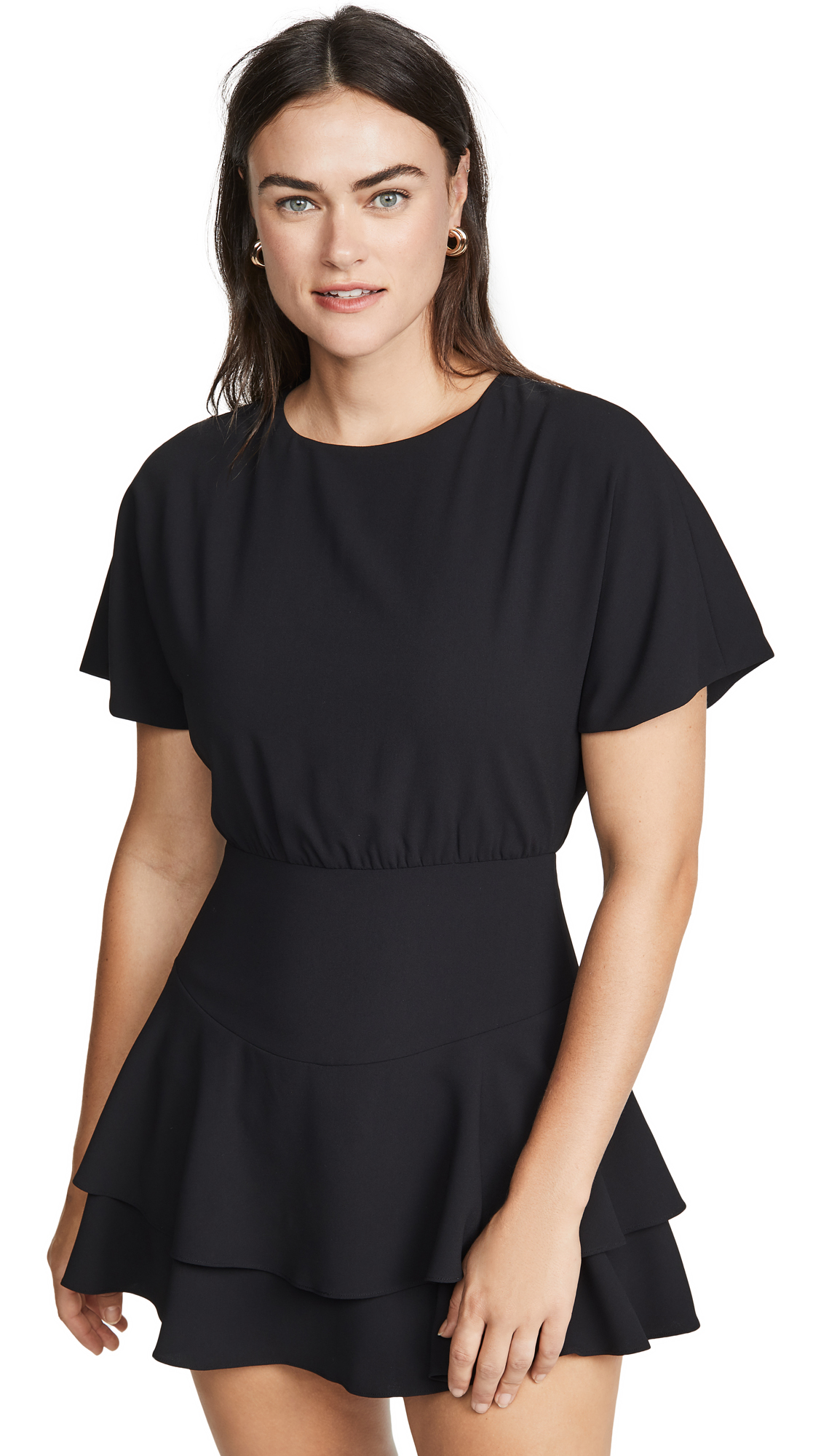 Buy alice + olivia online - photo of alice + olivia Palmira Tie Back Tiered Ruffle Dress