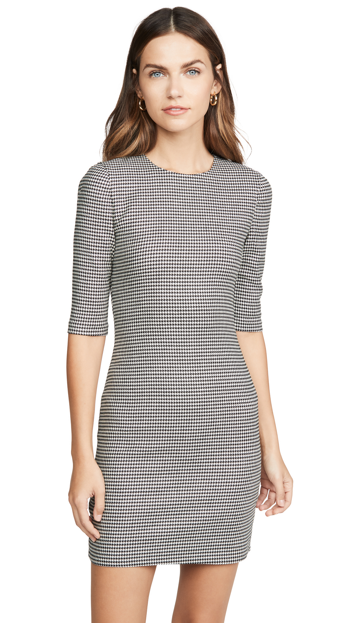 Buy alice + olivia online - photo of alice + olivia Delora Crew Neck Fitted Short Dress