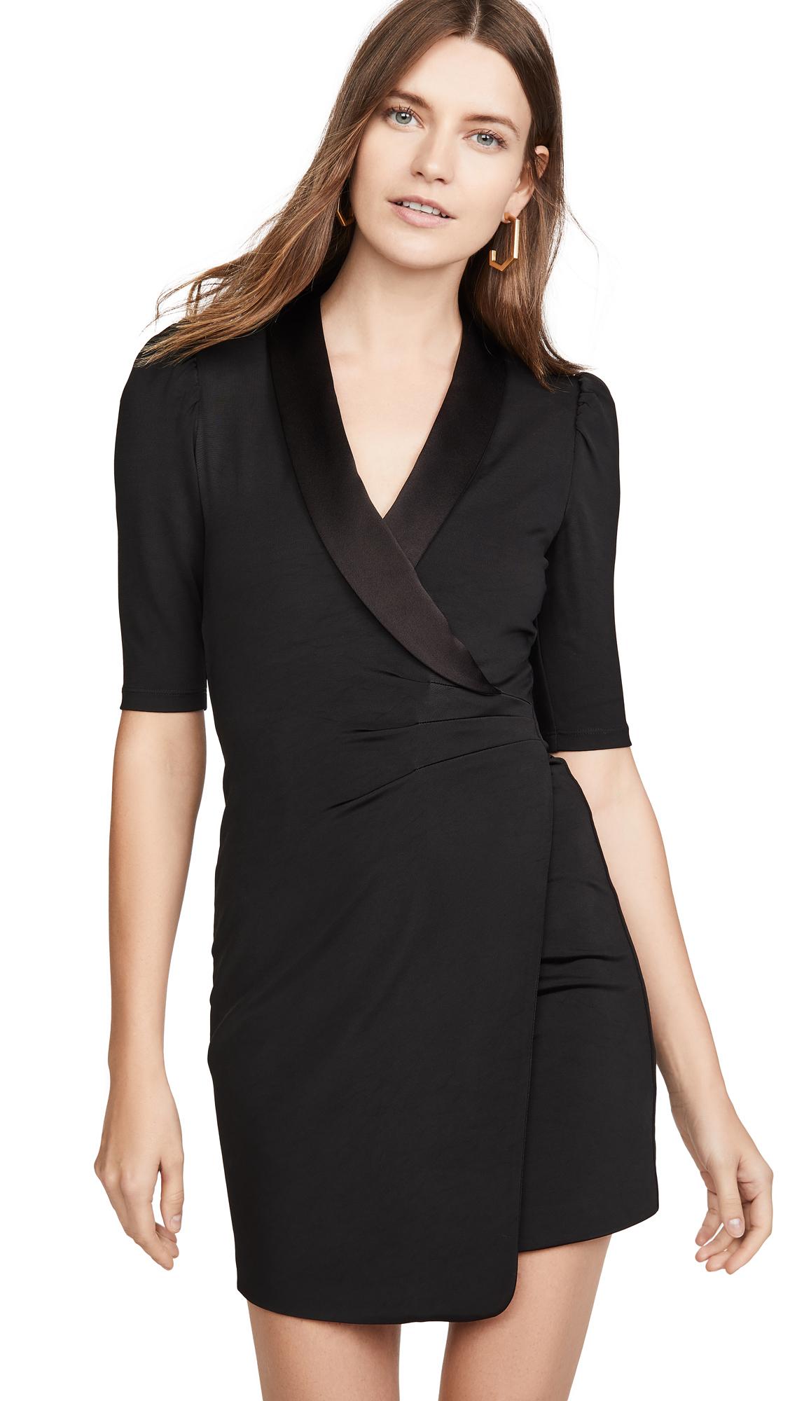 Buy alice + olivia online - photo of alice + olivia Remi Plunging V Neck Front Suit Dress