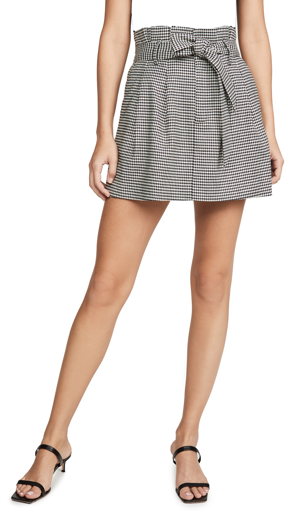 Buy alice + olivia online - photo of alice + olivia Zoya Belted Paper Bag Miniskirt
